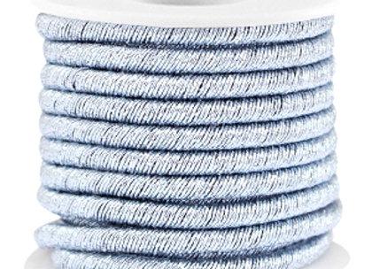 Metallic String Cord Silver Light Blue