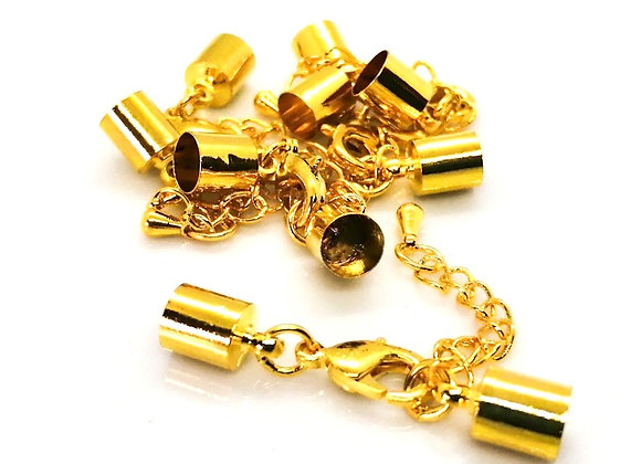 Gold Bell Closer 5mm Hole with Clasp and Chain