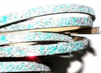 PU Faux Leather Grey Mix Super Glitter 5mm