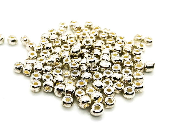Glass Seed Bead 6/0 - Silver Pack of 125