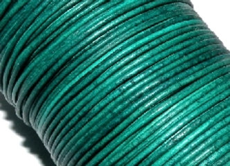 Vintage Turquoise Round Leather 1mm