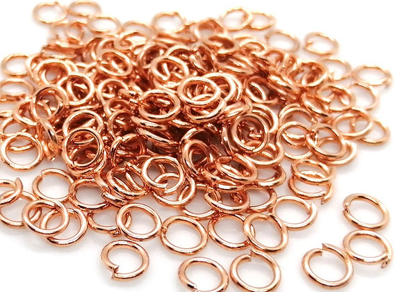 19g Rose Gold Open Jump Ring - 6mm