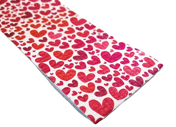 Leather Strip - Hearts 2mm