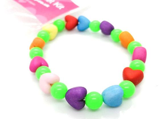 Elastic Bracelet Kit - Puffy Hearts