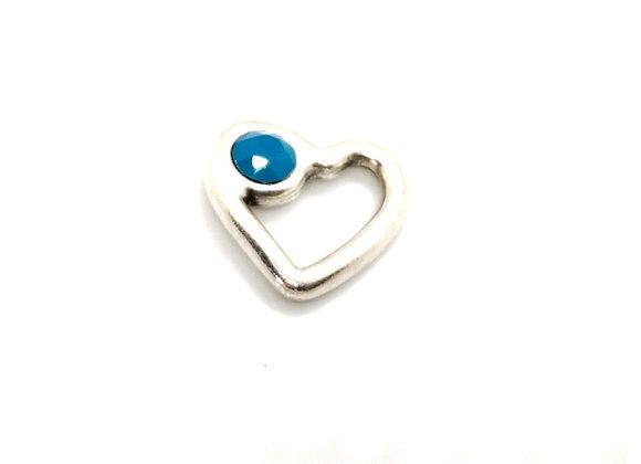 Zamak metal heart pendant swarovski crystal chaton