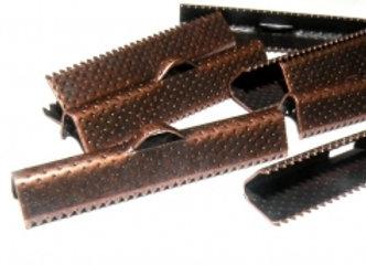 Copper Tone Crimp Ends Pack of 8