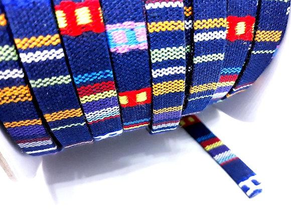 Ethnic Flat Cotton Cord - Navy Mix