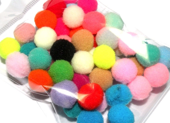 Multi Mixed Small Pompom Pack of 50