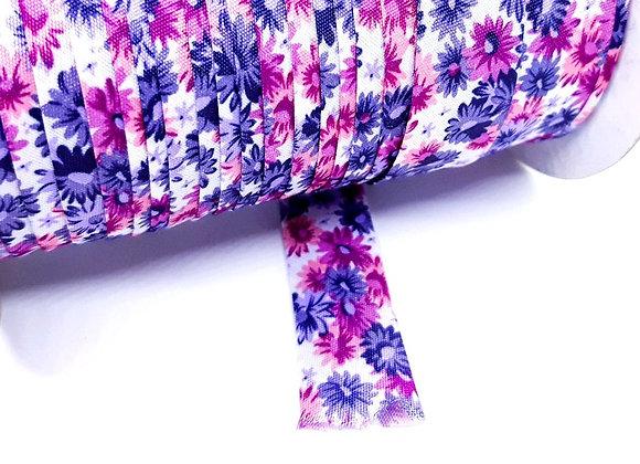 1M Binding Ribbon - Vintage Purple Floral