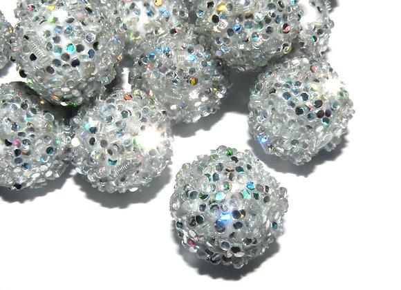 Silver Snowflake Bead Large