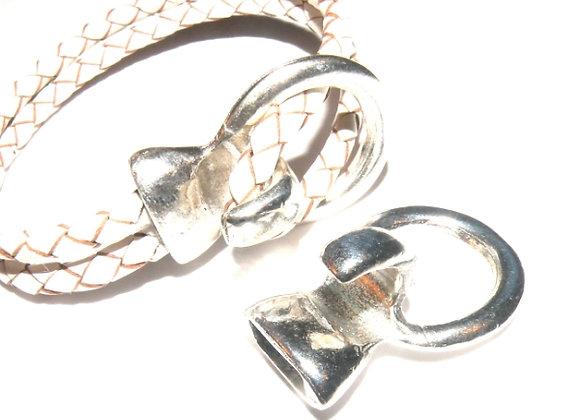 Zamak metal hook clasp for jewellery making