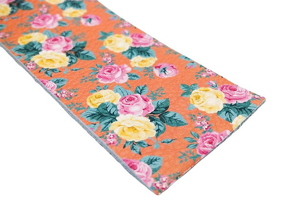 Leather Strip - Vintage Peach Floral 1.8mm