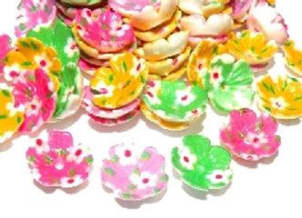 Cute Flower Cup Bead Pack of 50