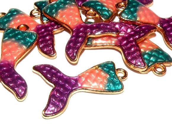Mermaid Tail Charm Pack of 2 - Purple Mix