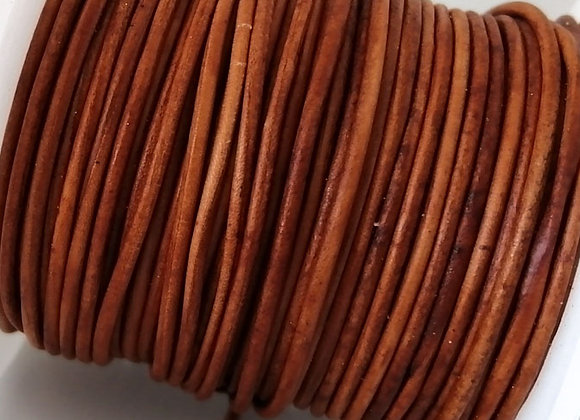 Tan Indian Round Leather 1mm