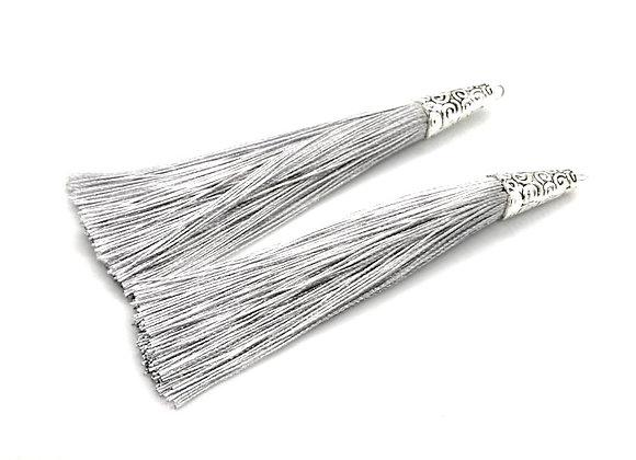 Big Tassel 90mm - Silver Grey
