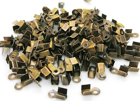 Fold Over Cord End Copper 8x3mm - Pack of 10