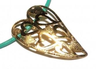 Open Heart Pendant - 24K Gold Plated