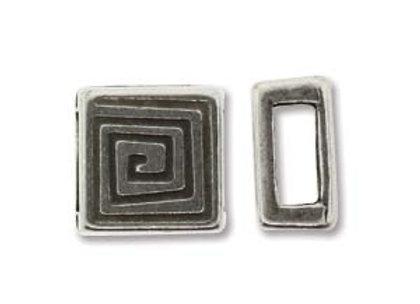 The Beadsmith Antique Silver Bracelet Slider Bead - 6mm Hole