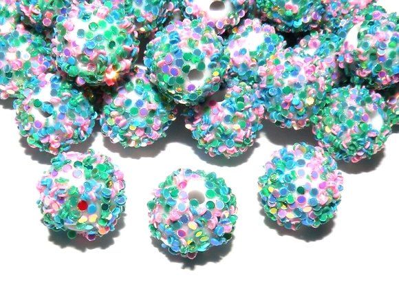 Unicorn mermaid snowflake bead with paillettes