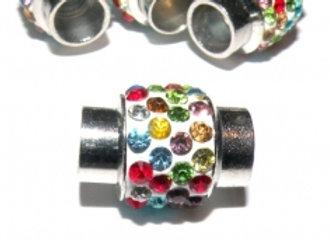 Multicolour rhinestone magnetic clasp