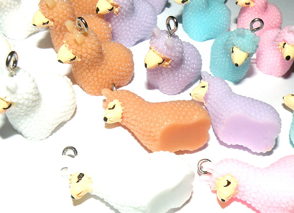 Large Resin Alpaca Charm - Choice of Colours