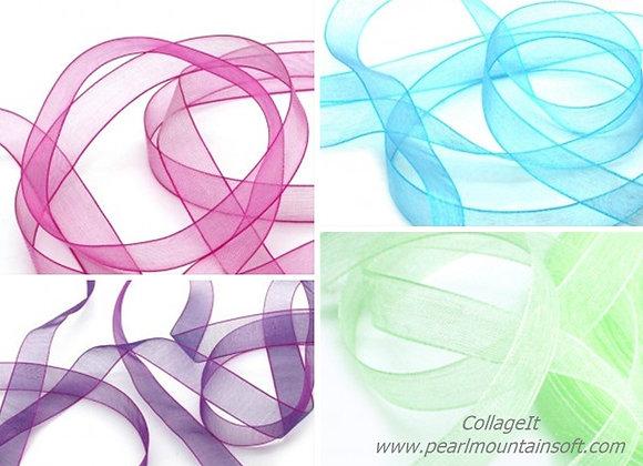 Organza Ribbons 15mm - Choice of Colours