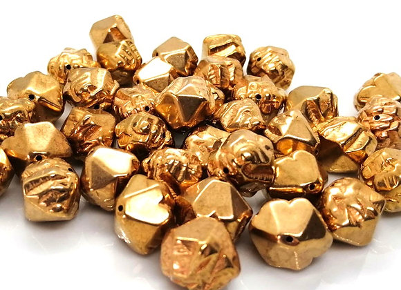 Acrylic Gold Colour Nugget Bead 15mm