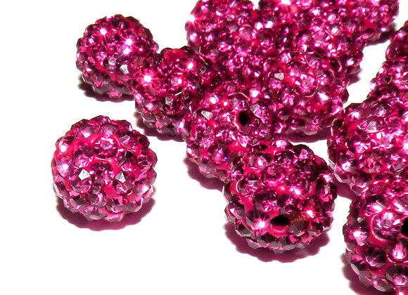 Baby Sham Hot Pink Grade A Crystals 8mm