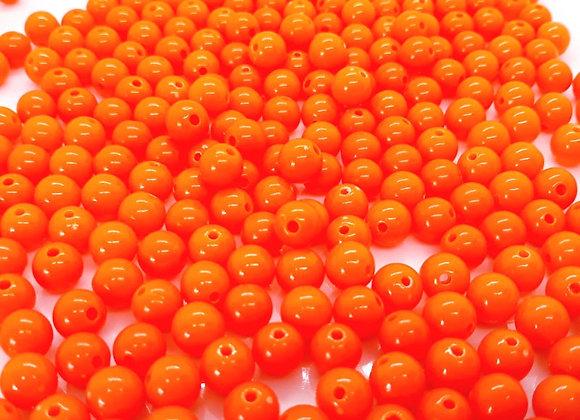 Fluorescent Acrylic Beads 8mm Orange -  Pack of 100