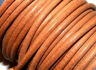 Spanish Round Leather - Natural 4.5mm