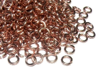 20g Rose Gold Open Jump Rings - 4mm