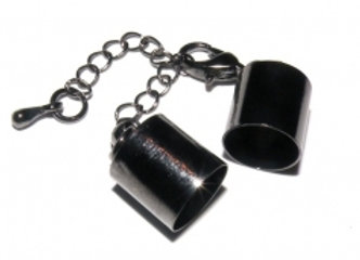 Black Bell Closer 10mm Hole with Clasp & Chain