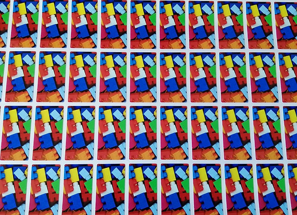 Fun Novelty Craft Stickers - Lego Bricks - Pack of 50