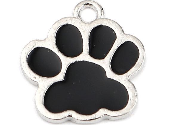 Enamelled Charm - Dog Paw Print
