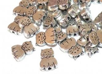 Small Metal Cat Bead!