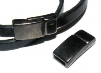 Small Glue-In Magnetic Clasp Black - 5mm Hole