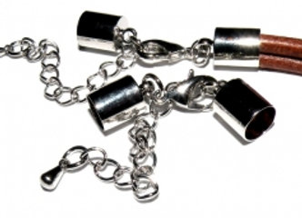 Platinum Bell Closer 6mm Hole with Clasp & Chain