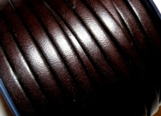 Chocolate Brown Flat Leather 5mm