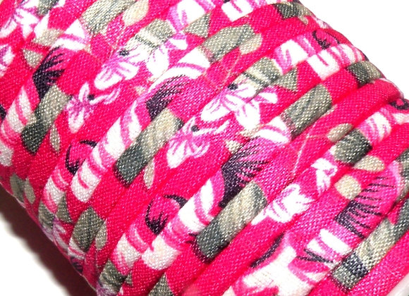 Round Fabric Cord - Pink Floral