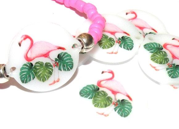 Resin Flamingo Link