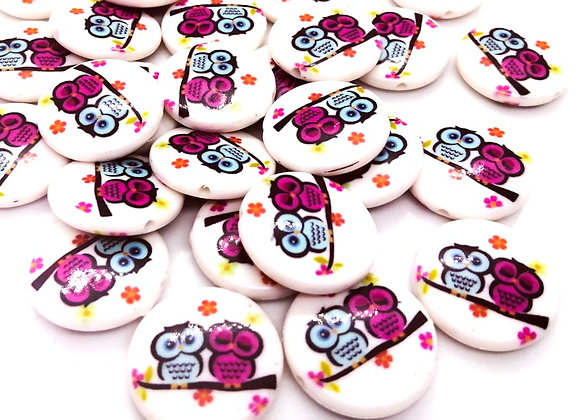 Cutie Owls Bead - Pack of 10