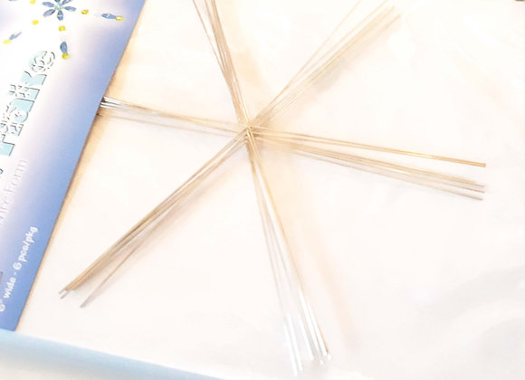 """Wire Snowflake Form 6"""" - Pack of 1"""