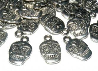 Metal Skull Charm