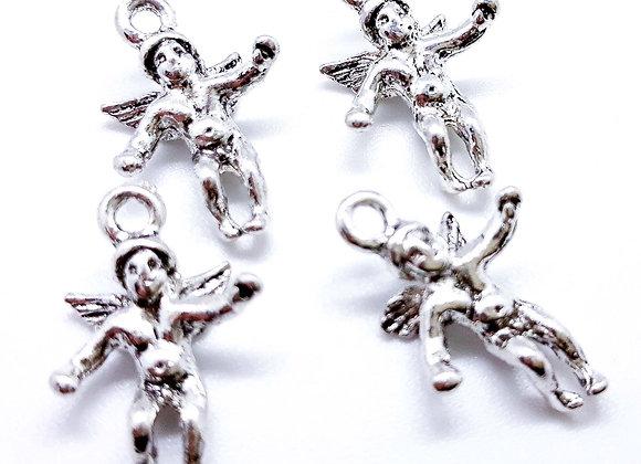 Tibetan Angel Charm 20mm - Silver