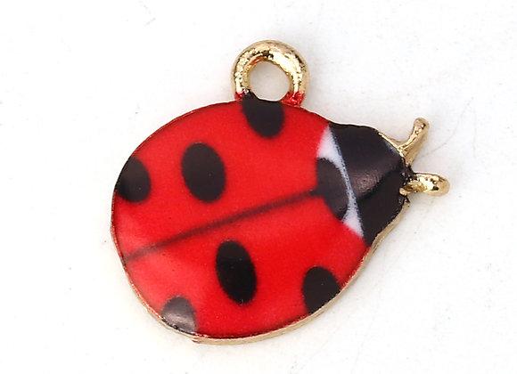Enamelled Charm - Ladybird