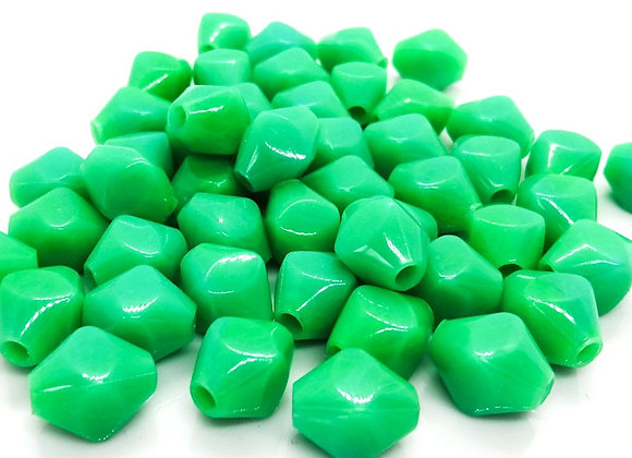 Large hole acrylic bicone bead jewellery making beads uk