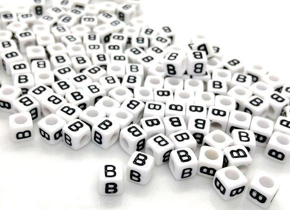 Acrylic Cube Letter B Pony Bead
