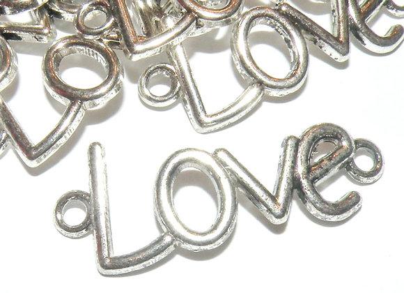 Tibetan Style Large Love Pendant/Link