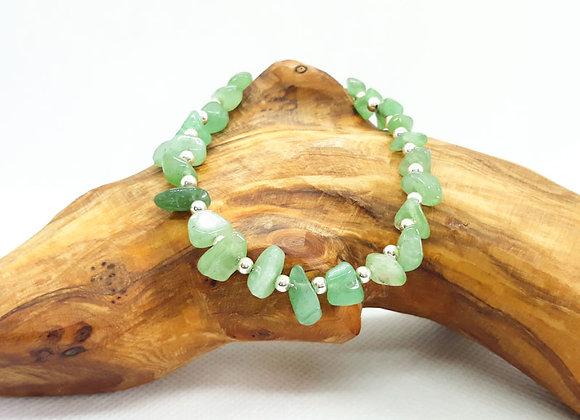 Gemstone Chip Bracelet Green